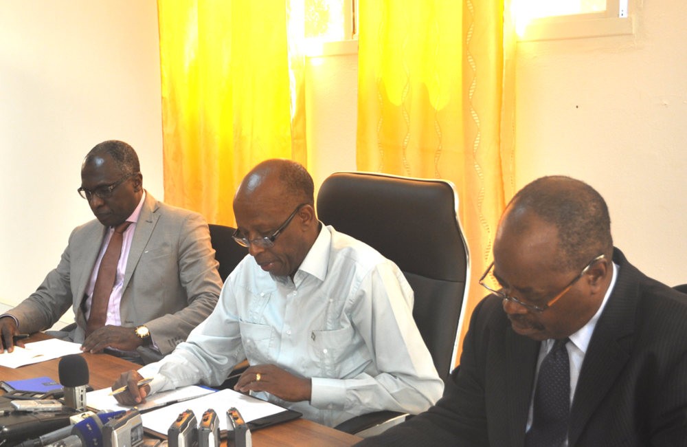 August. SRSG J. Mutaboba meets  journalists on the current political situation in the country