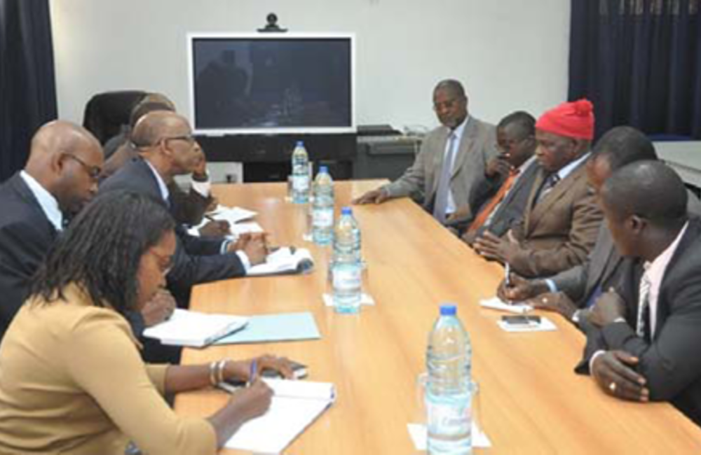 February. SRSG Joseph Mutaboba meets  PRS' delegation ahead 18 March presidential elections