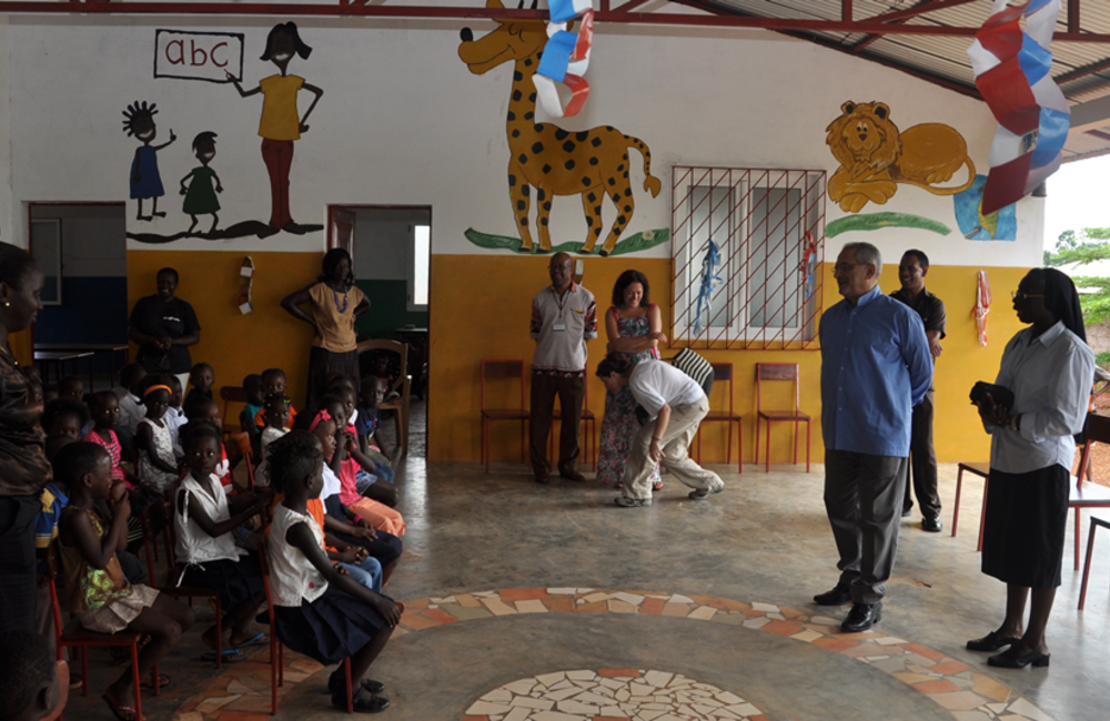 July. SRSG Horta visits a primary education school